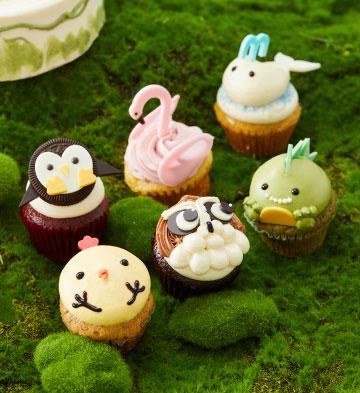動物樂園中號紙杯蛋糕(6個裝)