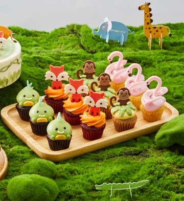 動物樂園迷你紙杯蛋糕禮盒(12個裝)