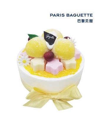 芒果雪團蛋糕型冰淇淋(6英寸)