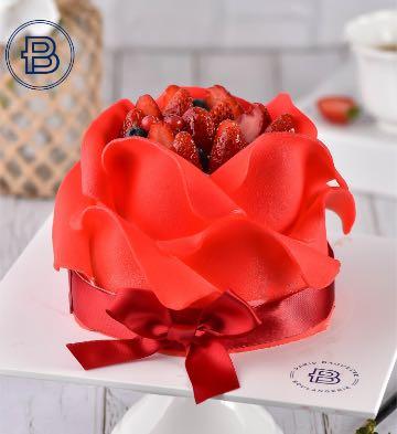 紅玫瑰蛋糕(6英寸)