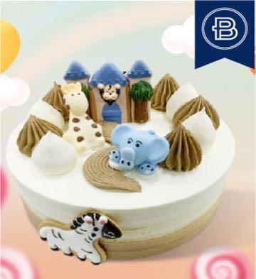 可愛動物蛋糕(7英寸)