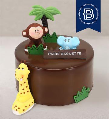 動物派對巧克力蛋糕(6英寸)