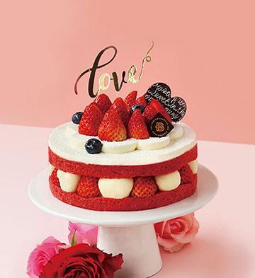 情意莓莓紅絲絨蛋糕(6英寸)