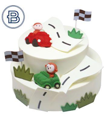 小小賽車手蛋糕(6英寸+8英寸)