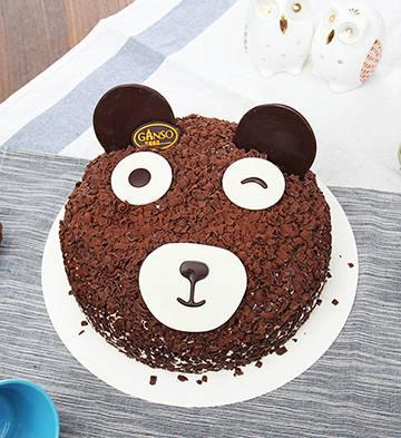 阿祖萌熊鮮奶蛋糕(6號)