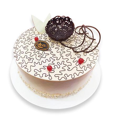 小圓香徑鮮奶蛋糕(黃金燕麥)(8寸)