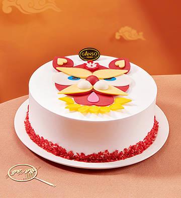 阿祖醒狮鲜奶蛋糕(8号)