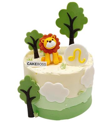 狮子座蛋糕(6寸)