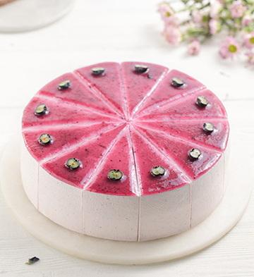 可心藍莓(12塊)【無賀卡、巧克力牌、蠟燭、生日帽】