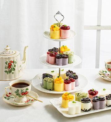 英式下午茶(24杯)【無賀卡、巧克力牌、蠟燭、生日帽】