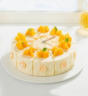 輕盈沐光低糖下午茶(8英寸)【無賀卡、巧克力牌、蠟燭、生日帽】