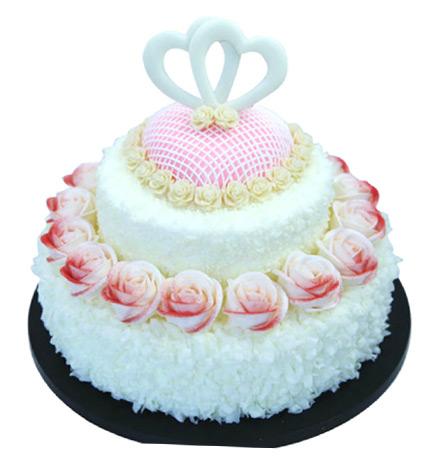永世之约(14+10寸):鲜奶_贝丽多蛋糕-中国鲜花礼品网