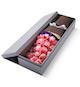 高档礼盒装鲜花:戴安娜粉玫瑰19枝,勿忘我适量