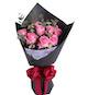 精品玫瑰系列: 水粉色苏醒玫瑰9枝,腊梅3枝,搭配适量尤加利叶(如当地腊梅缺货,用相思梅等其他寓意相近配材替代。)