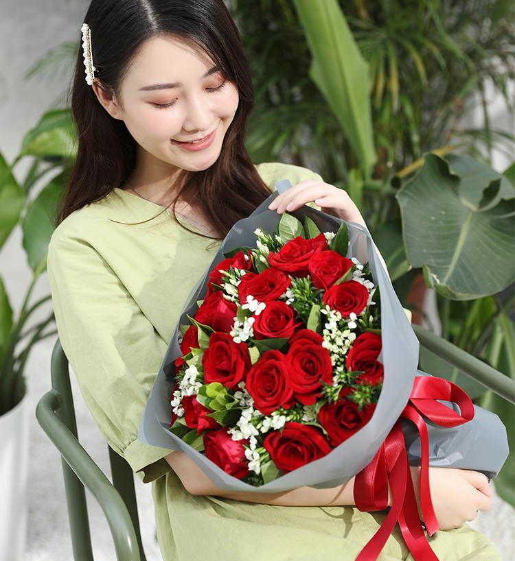 七夕送花表情包,呐,送你一朵小花花