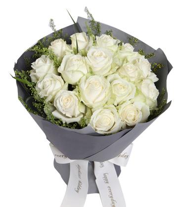 16朵白玫瑰