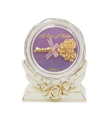 水晶文镇-爱的钥匙/紫