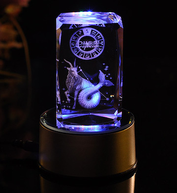 3D水晶内雕-摩羯座