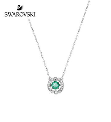 施华洛世奇悦动的心项链/淡绿色