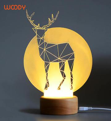 Woody创意木质3D灯之荒原系列