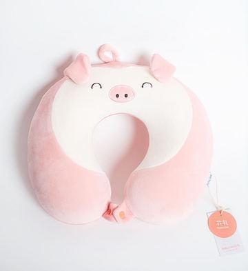 粉猪U型枕头
