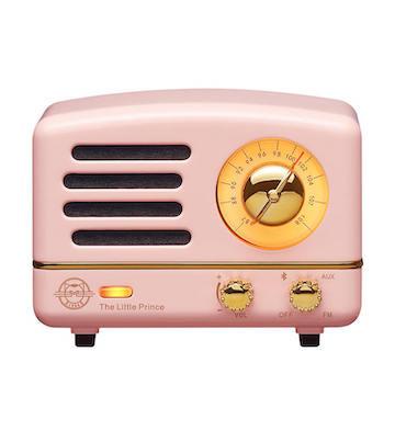 猫王小王子FM/蓝牙便携式音箱/粉色
