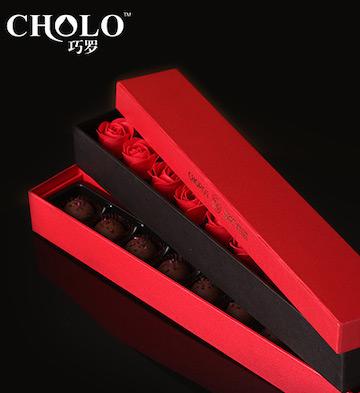 玫瑰之约手工巧克力礼盒