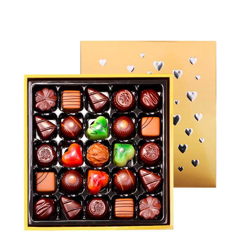 光板金樽礼遇多口味夹心巧克力礼盒装25颗