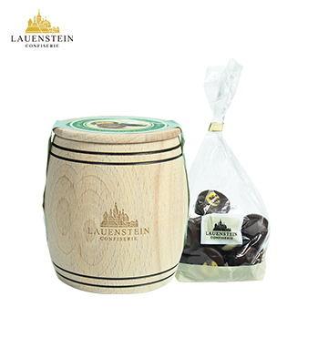 LAUENSTEIN 手工松露黑巧克力酒味夹心橡木桶10粒