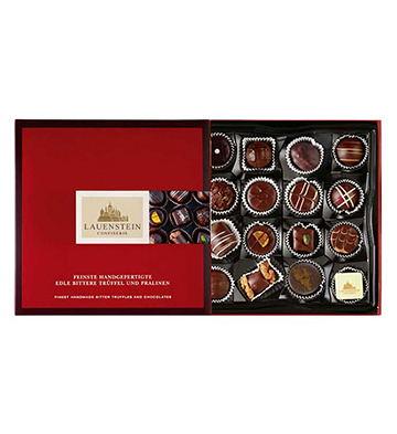 LAUENSTEIN 手工松露巧克力酒味夹心黑巧克力礼盒16粒