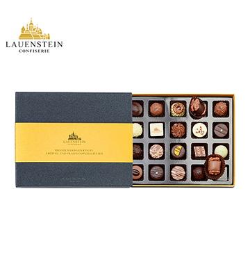 德国进口LAUENSTEIN巧克力手工松露酒味夹心金装礼盒