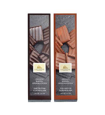 德国进口LAUENSTEIN城堡手工巧克力威化饼2盒