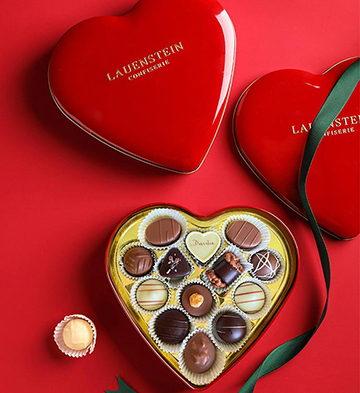 手工松露巧克力酒味夹心爱心礼盒13粒