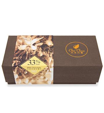 巧克巧蔻33%纯可可脂黑巧克力薄片