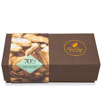 巧克巧蔻70%纯可可脂黑巧克力薄片
