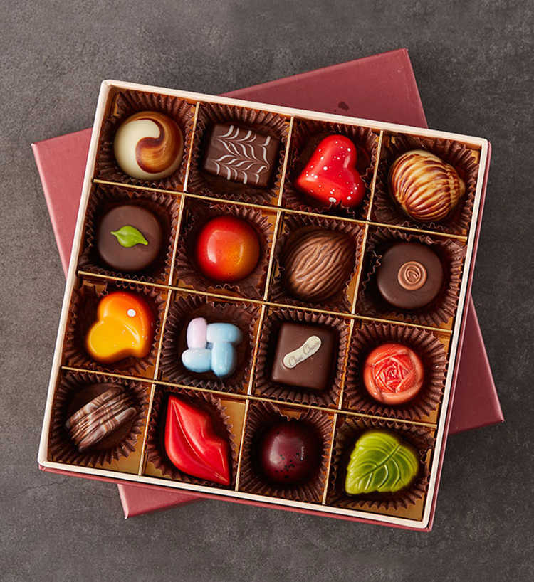 巧克巧蔻定制16粒装手工夹心巧克力