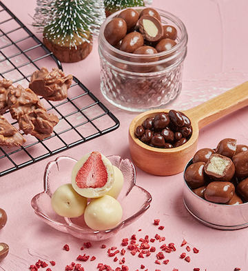 巧克巧蔻组合口味定制礼盒( 冻干草莓+酸奶提子+扁桃仁)