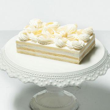 新鲜法香奶油可丽生日宴会蛋糕(1磅)