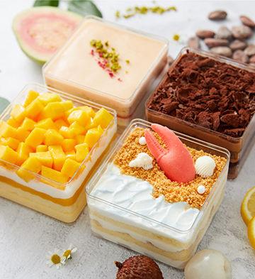 """""""盒你心意""""盒子蛋糕礼盒(4块)(下午茶)"""