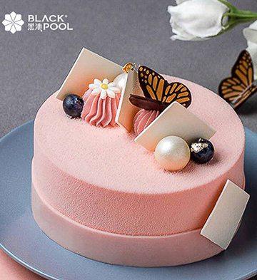 荔枝覆盆子白巧克力慕斯蛋糕(4.5寸)