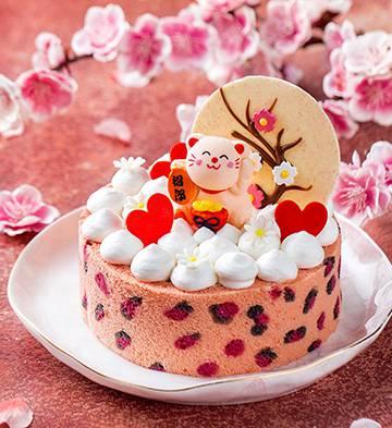 桃之夭夭·招郎慕斯蛋糕(5.5寸)
