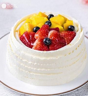 草莓&芒果软忌廉蛋糕(1磅)