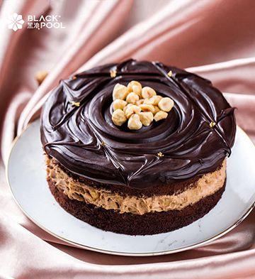 熔岩榛果巧克力蛋糕(1磅)