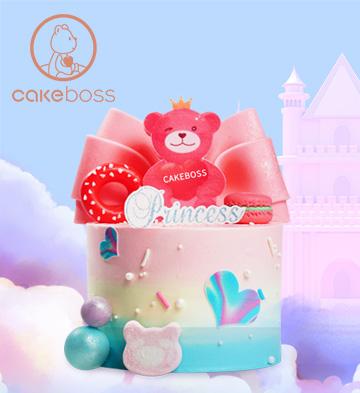 蝴蝶公主儿童生日蛋糕(6寸)