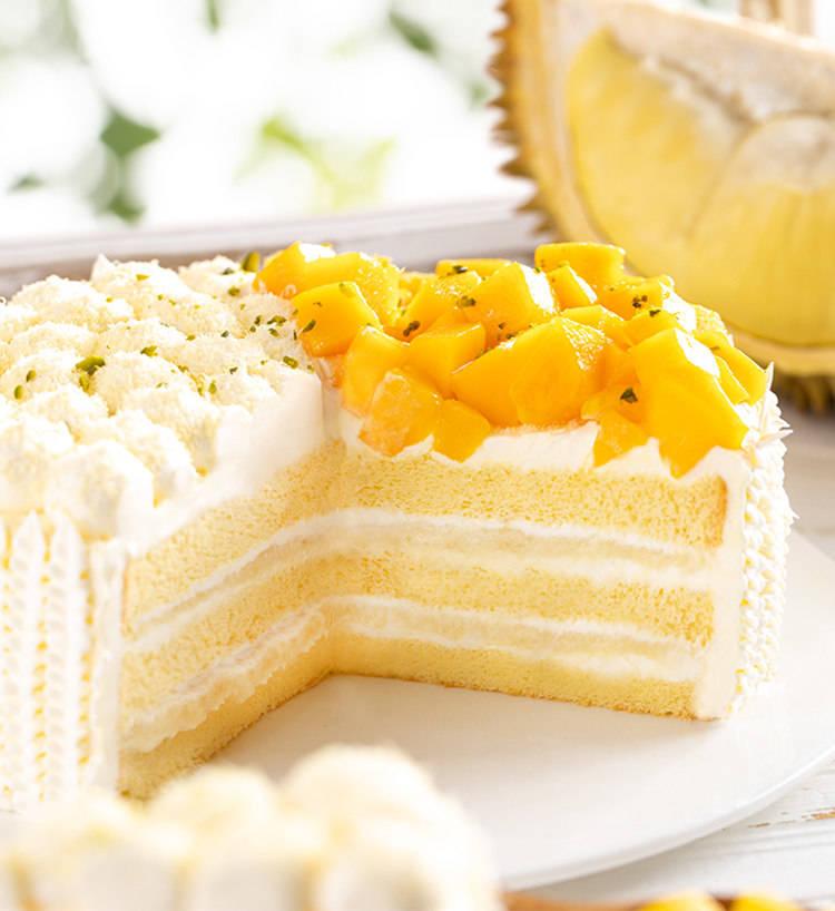 广州团购大全_戚风榴芒多(约2磅):鸡蛋、芒果、榴莲、原味蛋糕坯、奶油、小麦 ...