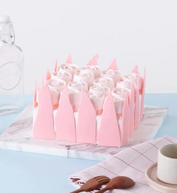 粉色玫瑰森林蛋糕(2-4人食)