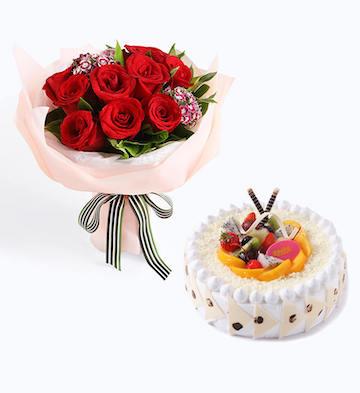 真爱+ 生日蛋糕B款(8寸)